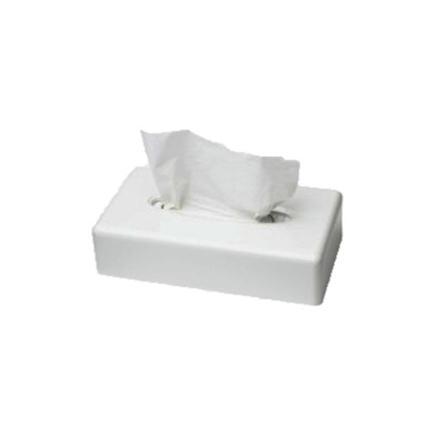 Facial tissue dispenser wit
