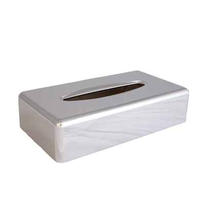 Facial tissue dispenser chroom