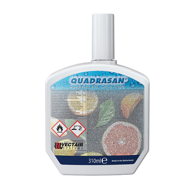 Vectair sanitizer quadrasan citrus tingle 0,31L